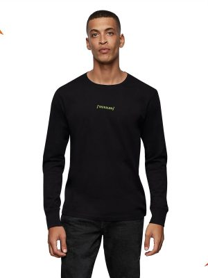 Raised silicon LS crew neck shirt 1