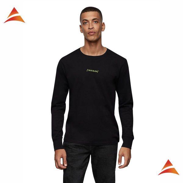 Raised silicon LS crew neck shirt