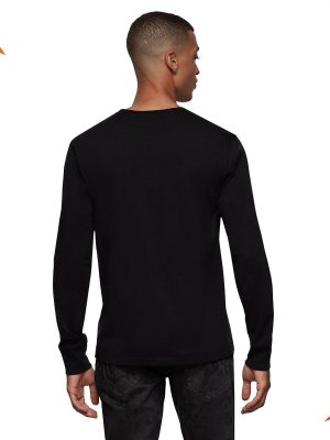 Raised silicon LS crew neck shirt