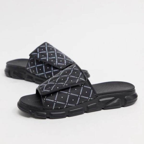 ASOS Design Sliders with Padded strap -Black