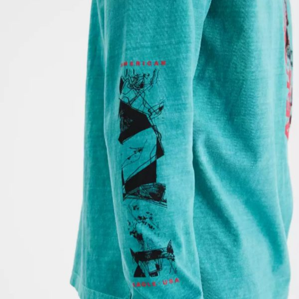 American Eagle Vintage Long-sleeve Graphic T-shirt
