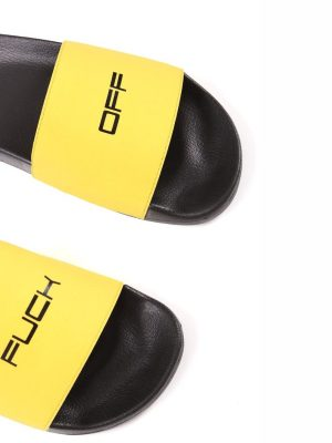 Fashion Nova Slide -Yellow/combo