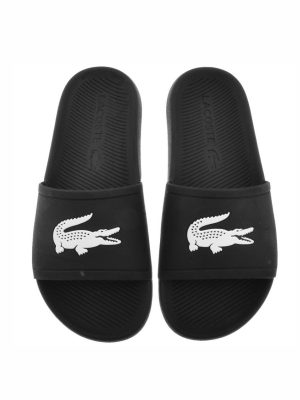 Lacoste Croco Slide, black