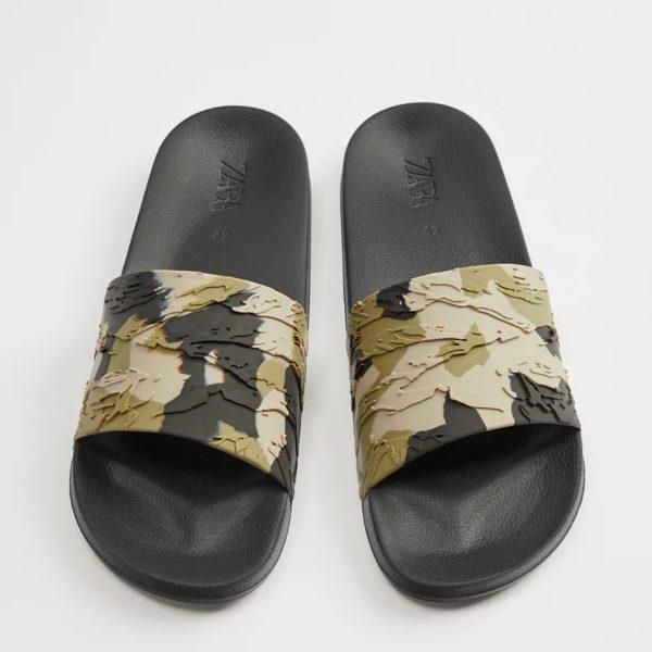 Zara Camouflage Slide