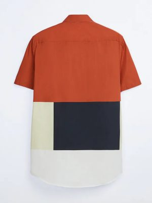 Zara Color block Print Shirt
