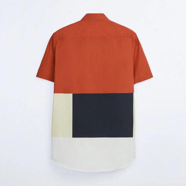 Zara Color block Print Shirt