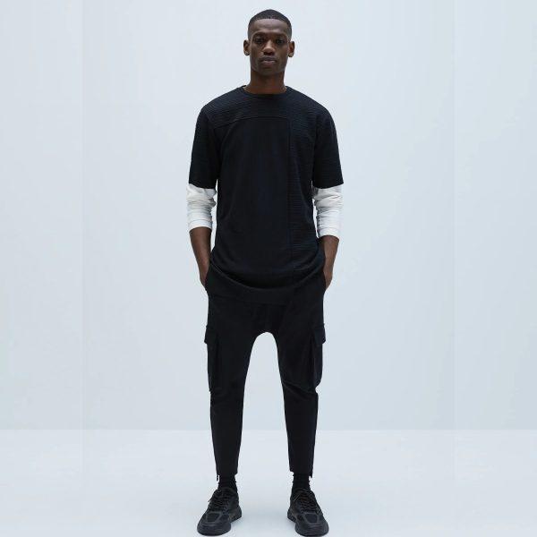 Zara Textured Long Sleeve Shirt