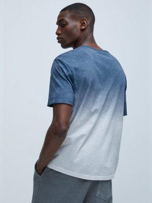 Zara Textured Tie-Dye T-Shirt