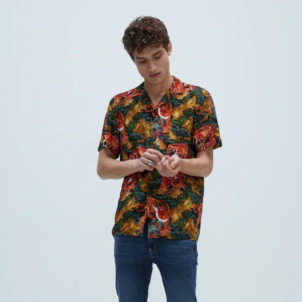 Zara Tiger Print Shirt