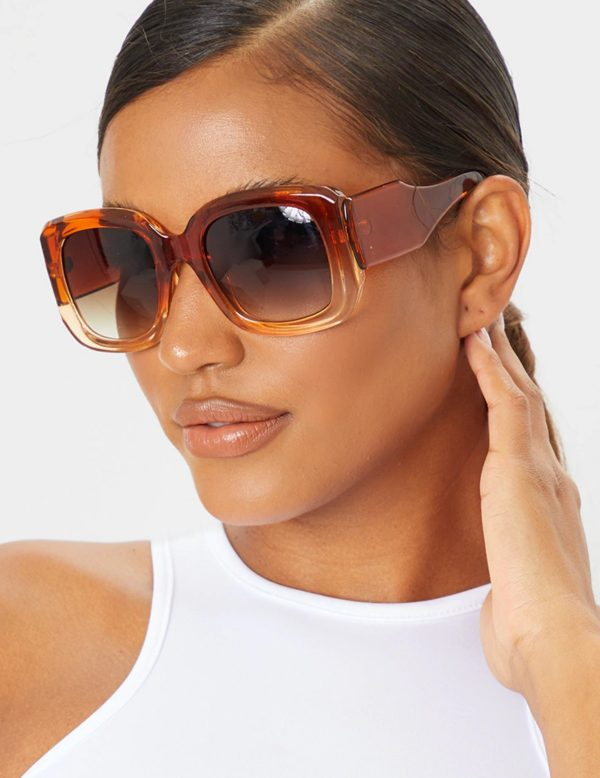 PrettyLittleThing Oversized Square frame Sunglasses on jody cruise store