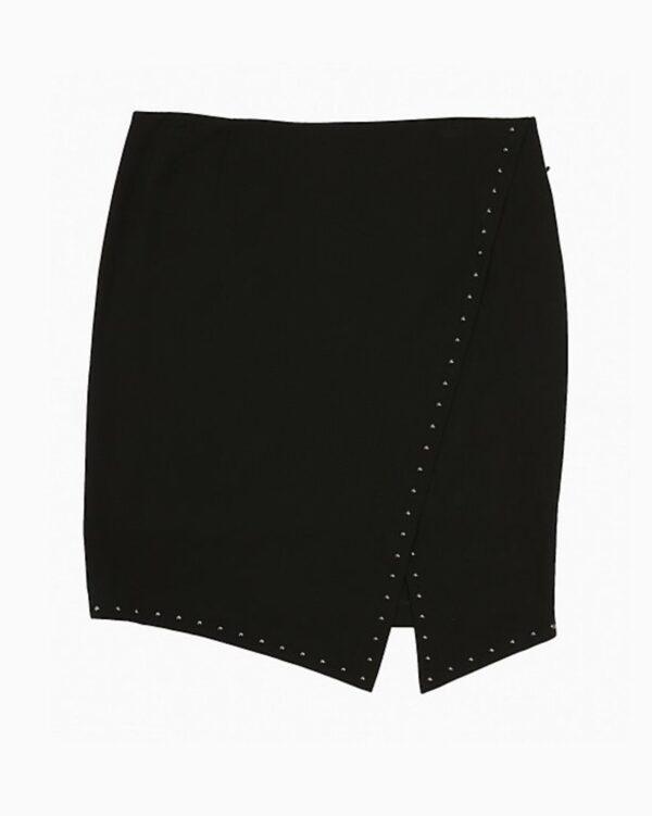 Calvin Klein Plus Size Studded Asymmetric Wrap Skirt