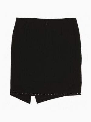 Calvin Klein Plus Size Studded Asymmetric Wrap Skirt