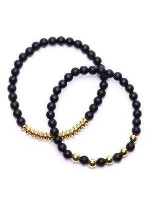 FashionNova Hollywood Men's Beaded Bracelet