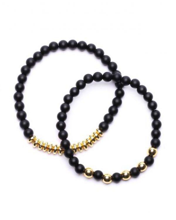 FashionNova Hollywood Men's Beaded Bracelet