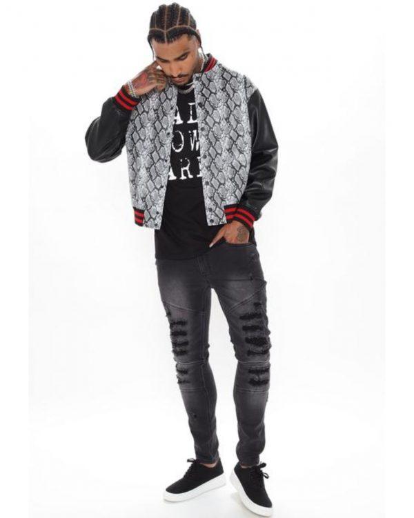 FashionNova Python Varsity Jacket