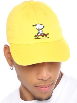 FashionNova Skatin' Snoopy Dad Hat - Yellow