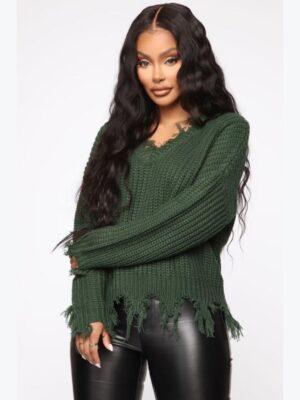 FashionNova Always Distressing Me Out Sweater 3
