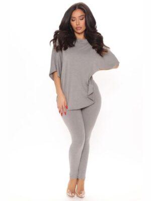 FashionNova Don't Get This Twisted Short Sleeve Pant Set 3