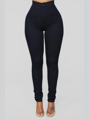 FashionNova Super High Waist Denim Skinnies 3